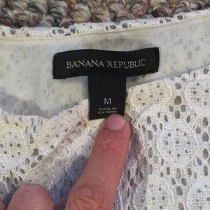 Banana Republic Tops - Banana Republic Mixed Eyelet Tank